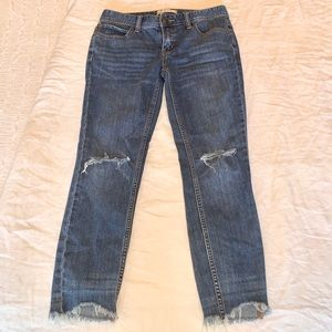 FP ankle jeans w/ holes in knees